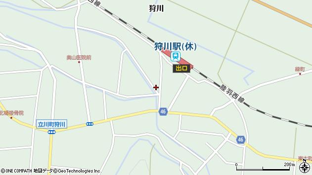 山形県東田川郡庄内町狩川堅田1周辺の地図