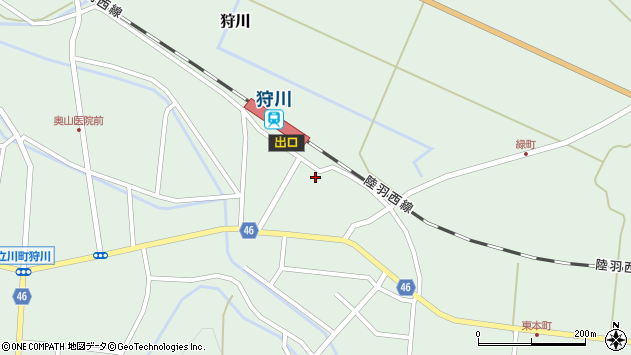 山形県東田川郡庄内町狩川今岡122周辺の地図