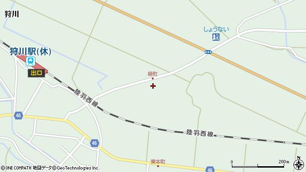山形県東田川郡庄内町狩川堂ノ下45周辺の地図