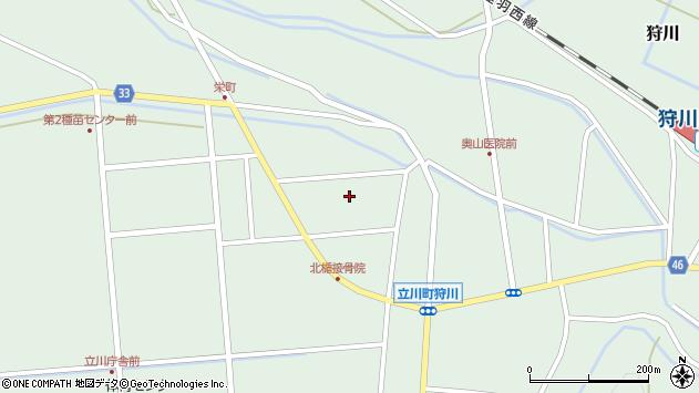 山形県東田川郡庄内町狩川西田112周辺の地図