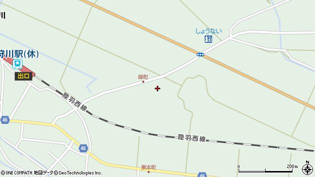 山形県東田川郡庄内町狩川堂ノ下46周辺の地図