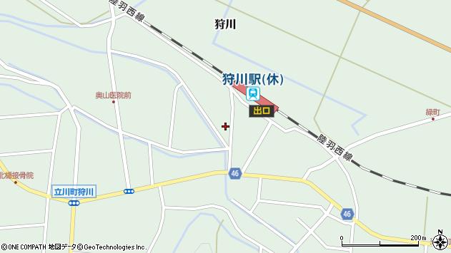 山形県東田川郡庄内町狩川堅田3周辺の地図