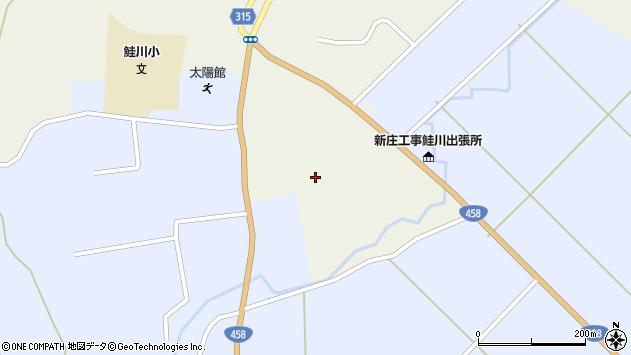 山形県最上郡鮭川村佐渡日下周辺の地図