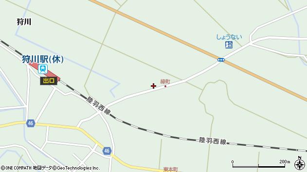 山形県東田川郡庄内町狩川大坪1周辺の地図