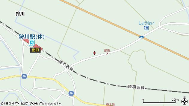 山形県東田川郡庄内町狩川大坪周辺の地図