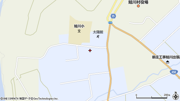 山形県最上郡鮭川村川口2835周辺の地図