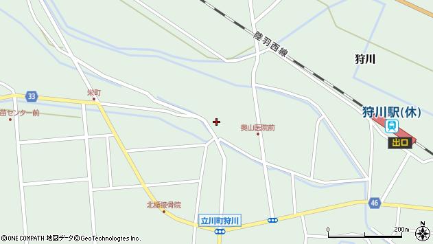 山形県東田川郡庄内町狩川薬師堂西38周辺の地図