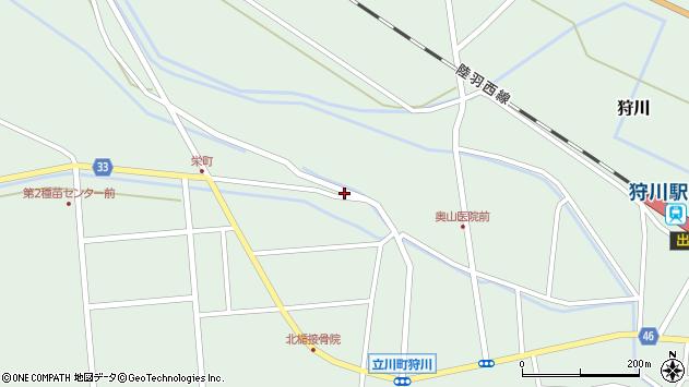 山形県東田川郡庄内町狩川薬師堂西118周辺の地図