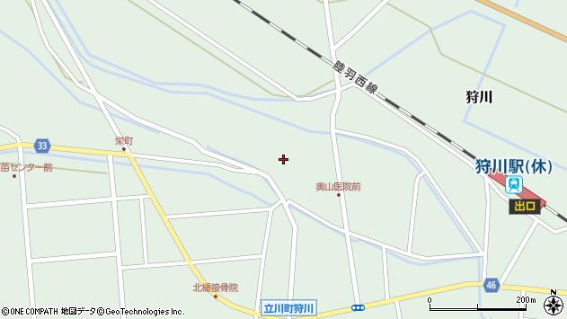 山形県東田川郡庄内町狩川薬師堂西39周辺の地図