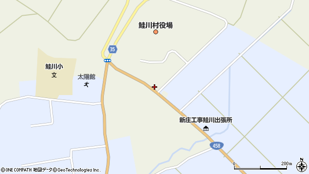 山形県最上郡鮭川村佐渡864周辺の地図