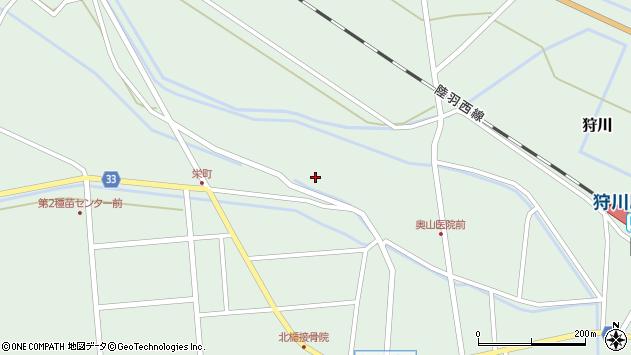 山形県東田川郡庄内町狩川薬師堂西102周辺の地図