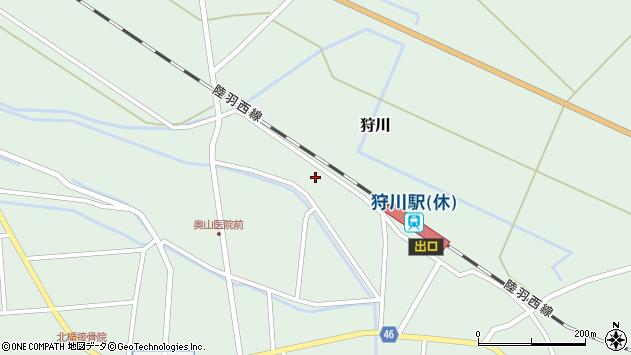 山形県東田川郡庄内町狩川堅田20周辺の地図