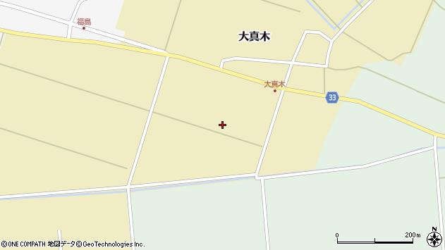山形県東田川郡庄内町大真木南割周辺の地図