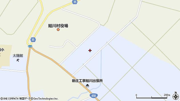 山形県最上郡鮭川村佐渡2148周辺の地図