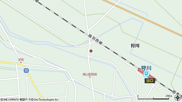 山形県東田川郡庄内町狩川堅田32周辺の地図