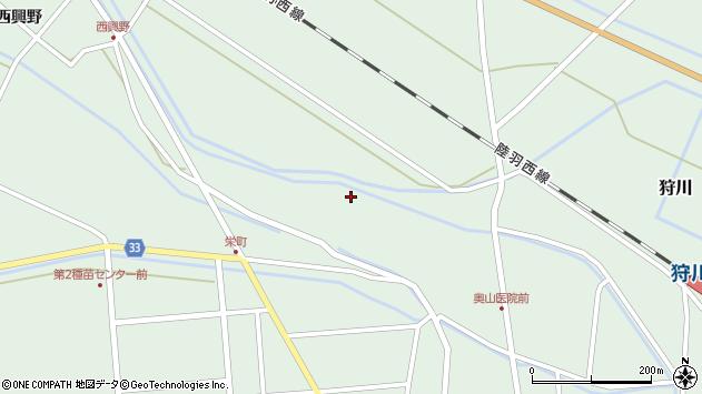 山形県東田川郡庄内町狩川薬師堂西104周辺の地図
