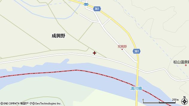 山形県酒田市成興野揚水下1周辺の地図