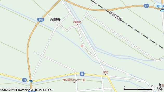 山形県東田川郡庄内町狩川薬師堂西134周辺の地図