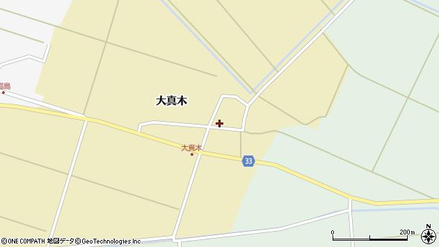 山形県東田川郡庄内町大真木中屋敷周辺の地図