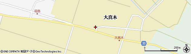 山形県東田川郡庄内町大真木西フケ周辺の地図