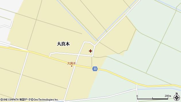 山形県東田川郡庄内町大真木周辺の地図
