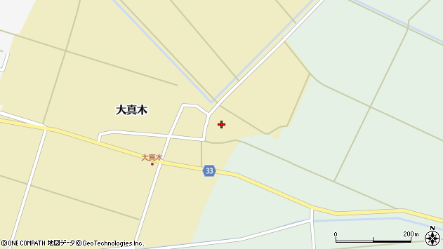 山形県東田川郡庄内町大真木中屋敷90周辺の地図