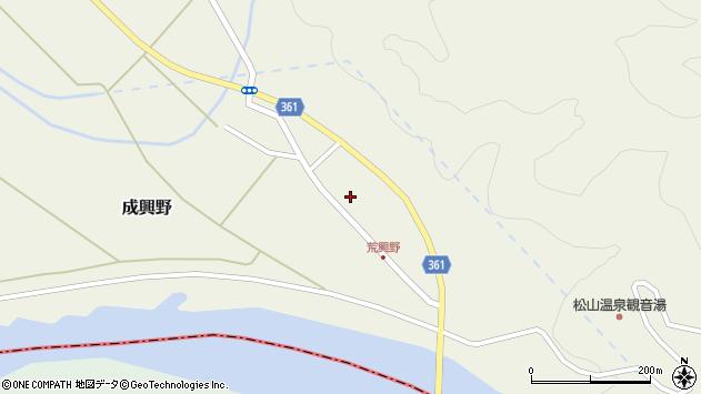 山形県酒田市成興野上堰内77周辺の地図