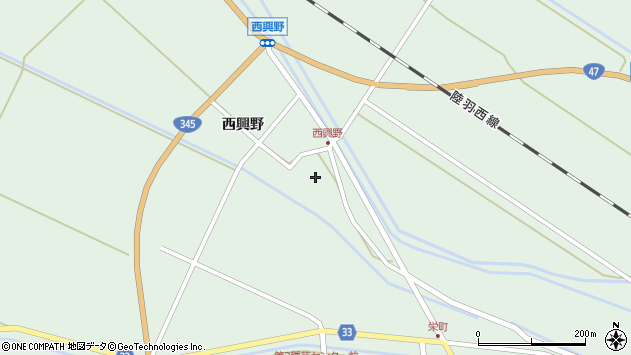 山形県東田川郡庄内町狩川西興野17周辺の地図