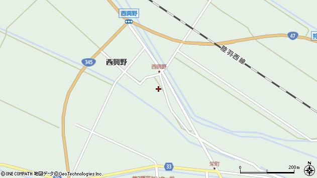 山形県東田川郡庄内町狩川西興野24周辺の地図