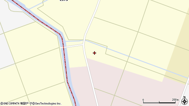 山形県東田川郡庄内町吉方南深周辺の地図