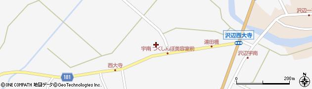 宮城県栗原市金成沢辺宇南周辺の地図
