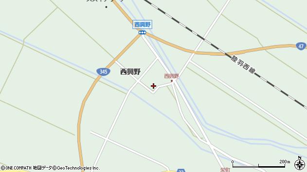 山形県東田川郡庄内町狩川西興野25周辺の地図