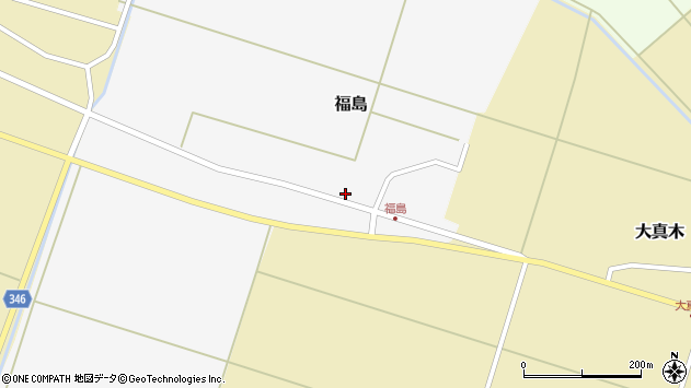 山形県東田川郡庄内町福島東大坪周辺の地図