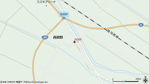 山形県東田川郡庄内町狩川西興野26周辺の地図
