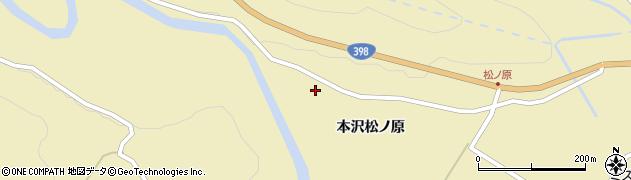 宮城県栗原市花山本沢松ノ原周辺の地図