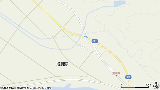 山形県酒田市成興野荒興屋周辺の地図