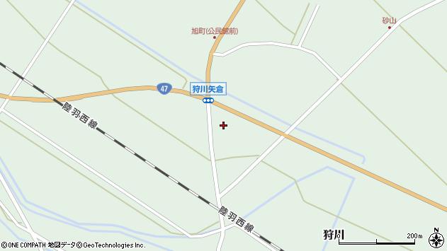 山形県東田川郡庄内町狩川矢倉周辺の地図