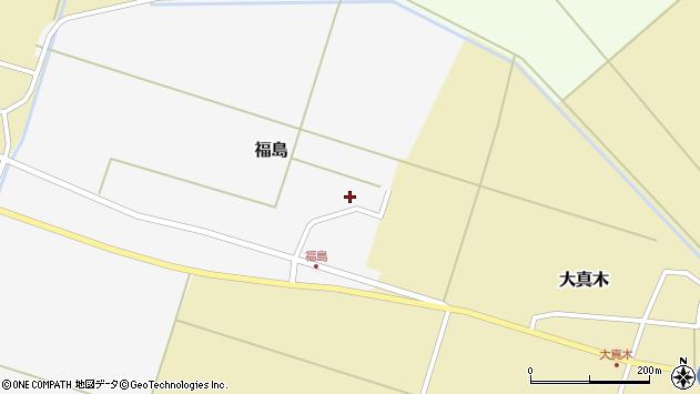 山形県東田川郡庄内町福島北フケ周辺の地図