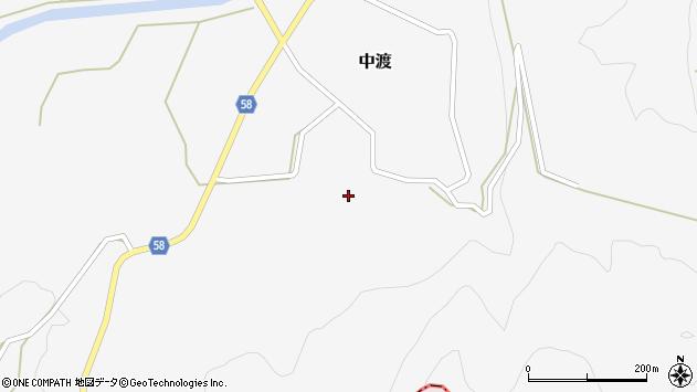 山形県最上郡鮭川村中渡39周辺の地図