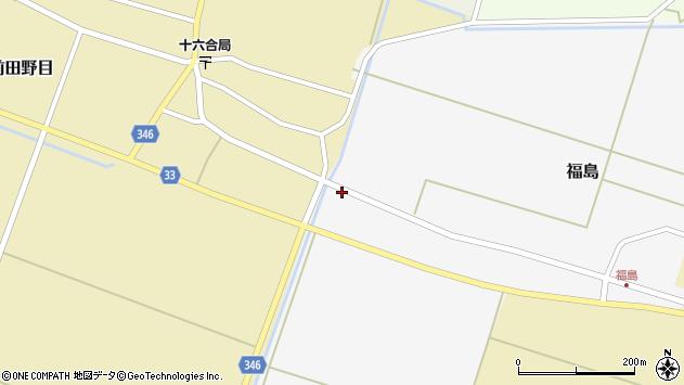 山形県東田川郡庄内町福島西大坪4周辺の地図