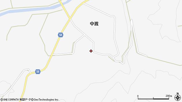 山形県最上郡鮭川村中渡114周辺の地図