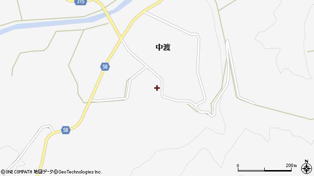 山形県最上郡鮭川村中渡113周辺の地図