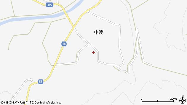 山形県最上郡鮭川村中渡112周辺の地図