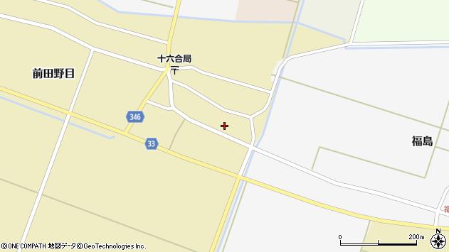 山形県東田川郡庄内町前田野目東前割1周辺の地図