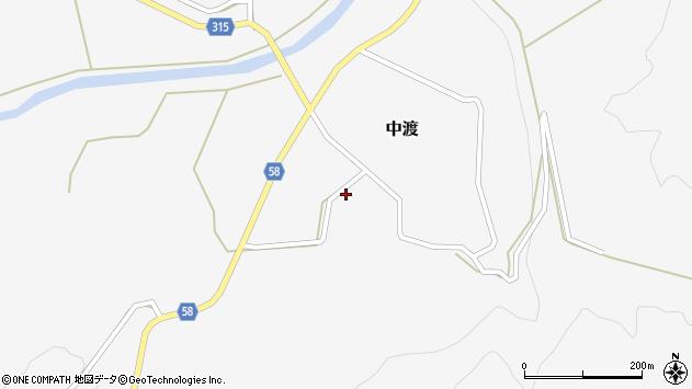 山形県最上郡鮭川村中渡99周辺の地図