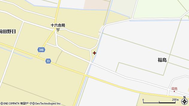 山形県東田川郡庄内町前田野目余慶周辺の地図