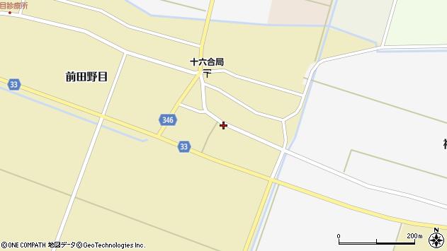 山形県東田川郡庄内町前田野目西前割3周辺の地図