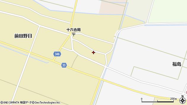 山形県東田川郡庄内町前田野目前割13周辺の地図