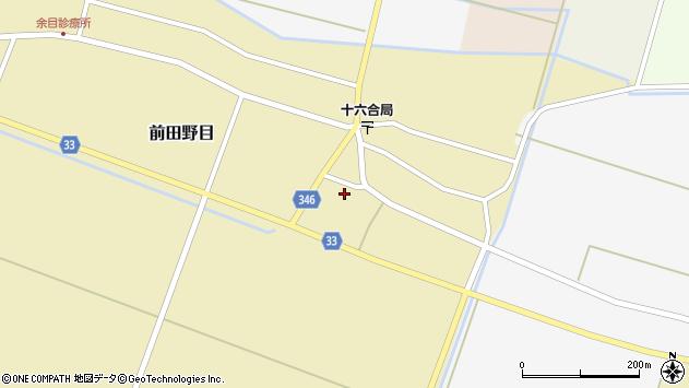 山形県東田川郡庄内町前田野目西前割周辺の地図