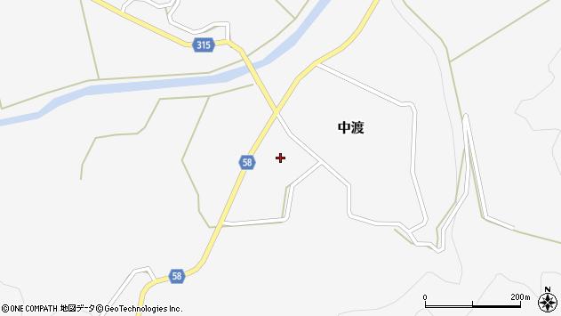 山形県最上郡鮭川村中渡周辺の地図
